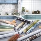壁紙 廚房防油加厚仿大理石紋貼紙陽台牆面...