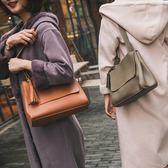 側背包-純色大容量翻蓋時尚百搭皮革女肩背包-12色73nh9【巴黎精品】