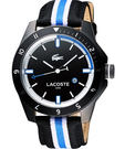 Lacoste 鱷魚 時尚玩家腕錶-黑x雙色版 L2010699