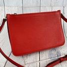 BRAND楓月 BURBERRY 經典 紅色 皮革 小斜背包 側背包 三層 拉鍊包 肩背包
