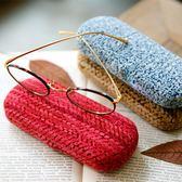 眼鏡盒女 ins眼睛盒便攜復古收納盒 交換禮物