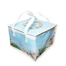 【甜手手】藍色花園 6/8/10吋 蛋糕保冷袋 保溫袋【K014】蛋糕盒冷藏保鮮袋 無紡布袋 保冰袋
