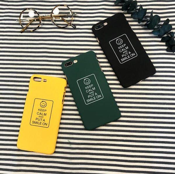 韓版 簡約 手繪 字母 笑臉 蘋果 手機殼 iPhone7 iPhone6 plus i6s i7 創意 個性 硬殼