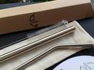 台灣QC 日本鋼材-食品級SUS304不鏽鋼吸管/環保吸管-C(細)彎Q(粗)直組合系列