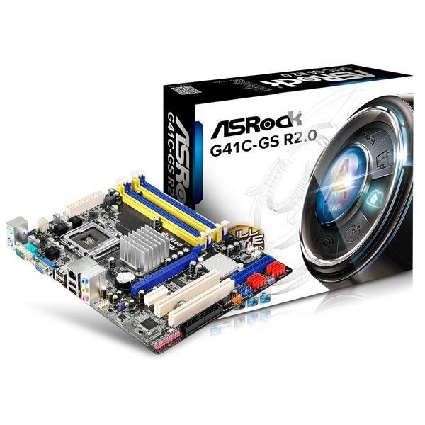 全新 華擎 G41C-GS R2.0 INTEL G41+CH7 LGA775 M-ATX 主機板