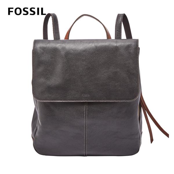 FOSSIL CLAIRE 真皮率真後背包-黑色 SHB1932001