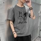 男士冰絲短袖t恤2021夏季新款潮牌潮流嘻哈寬鬆純棉大碼半袖衣服【快速出貨】
