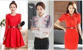 簡約紅色女皮帶百搭牛皮細腰帶配連身裙黑色時尚韓國裝飾裙子優雅