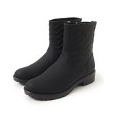 Petite Jolie  V字壓紋短筒靴-黑色