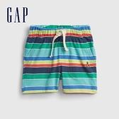 Gap嬰兒 清爽條紋透氣短褲 939854-彩色條紋