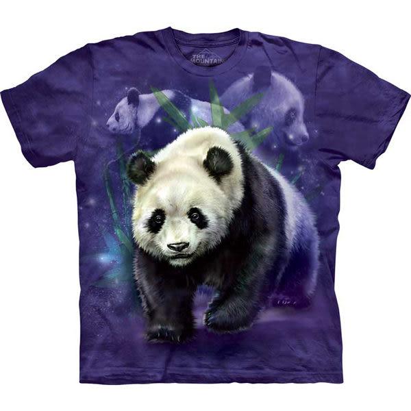 【摩達客】 (預購)(大尺碼3XL)美國進口【The Mountain】自然純棉系列 熊貓群 T恤(10412045113ab)