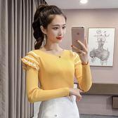 秋冬季女裝新款正韓時尚圓領長袖套頭打底毛衣氣質顯瘦毛衣女