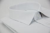 【金‧安德森】白色對稱紋窄版長袖襯衫