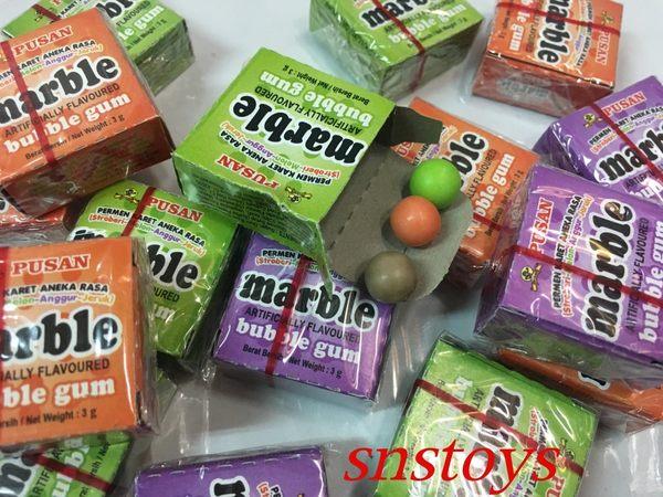 sns 古早味 PUSAN(步山)水果口香糖 彈珠口香糖 彈珠 水果 口香糖(同 丸川 )50小盒裝