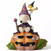 《Enesco精品雕塑》SNOOPY萬聖節南瓜小巫師塑像-Happy Howl-O-Ween(Peanuts by Jim Shore)_EN86170