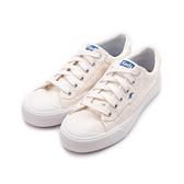KEDS CREW KICK 經典半月帆布綁帶休閒鞋 白 9193W122829 女鞋 平底│小白鞋