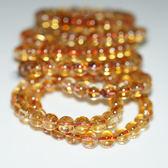 【喨喨飾品】天然黃水晶手鍊 N431