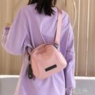 斜背包 潮韓版側背包包斜背包女包帆布包時尚百搭牛津布貝殼包 芊墨左岸