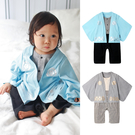 長袖連身衣 日式和服 男寶寶 女寶寶 爬服 哈衣 Augelute 70065