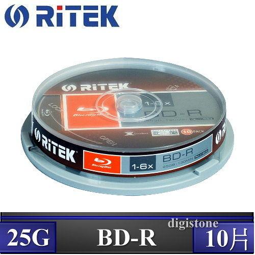 ◆下殺!!免運費◆錸德 Ritek 空白光碟片 藍光 Blu-ray X版 BD-R 6X  25GB 10P布丁桶