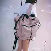 韓版高中雙肩包女2019新大容量休閒旅游旅行包百搭背包大學生書包   (橙子精品)