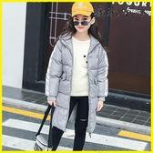 女童棉服中長款男童棉衣兒童冬季外套