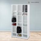 【米朵Miduo】塑鋼開放式鞋櫃 置物櫃 防水塑鋼家具(9格)