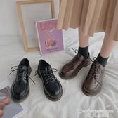 日系鞋黑色圓頭小皮鞋女日系英倫復古配裙子軟底舒適2020秋冬季新款女鞋 非凡小鋪