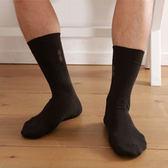 【源之氣】竹炭紳士棉襪/黑緹花 6雙組 RM-10026