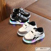 兒童2019新款亮燈鞋 1-3歲男童鞋子2春款男寶寶童鞋4女童運動鞋潮