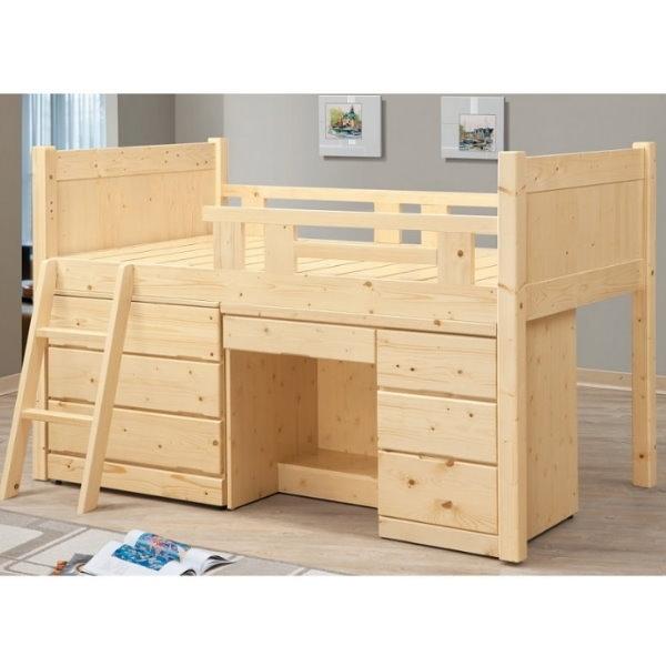 床架 高架床 BT-59-3 松木多功能床組(不含床墊) 【大眾家居舘】