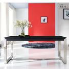 【UHO】 雷納德6尺玻璃餐桌 HO20-607-5