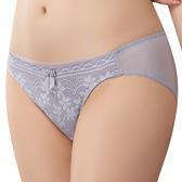 思薇爾-挺享塑系列M-XXL蕾絲低腰三角內褲(青藤灰)