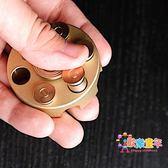 左輪指尖陀螺可裝填子彈 黃銅子彈創意減壓玩具EDC