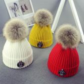 寶寶帽子秋冬男女童毛線帽正韓潮兒童針織帽保暖新生嬰兒帽子冬天【交換禮物】