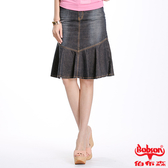 BOBSON 女款牛仔魚尾裙(D061-53)