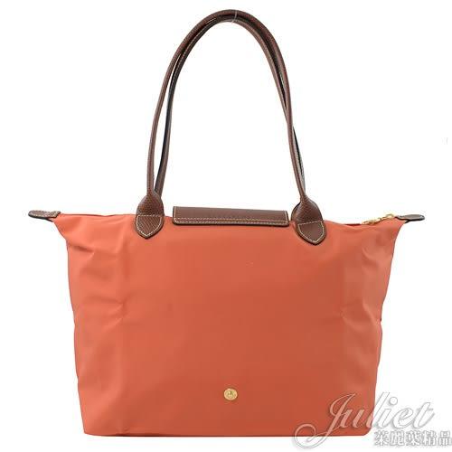 茱麗葉精品【全新現貨】 Longchamp Le Pliage 折疊長揹帶肩提包.橘色 #2605