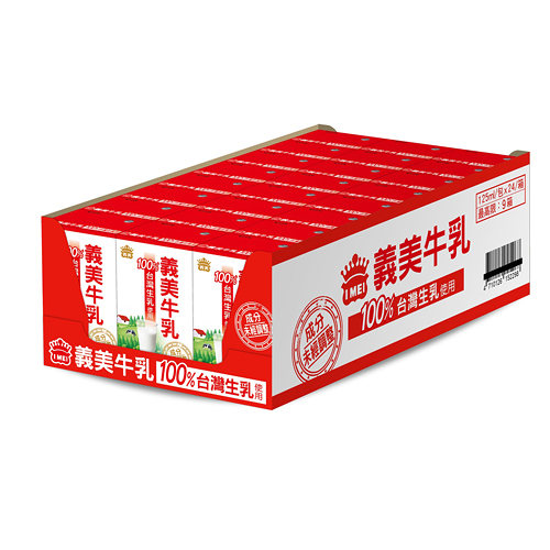 義美牛乳保久乳125ml*24【愛買】
