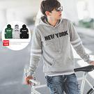 帽T NEW YORK立體徽章雙線造型刷...