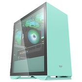 darkFlash DLM 22 磁吸式側掀式玻璃側板 M-ATX 遊戲機殼 薄荷綠