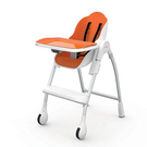 Oribel 時尚機能高腳餐椅-橘色...