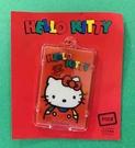 【震撼精品百貨】Hello Kitty_凱蒂貓~Sanrio HELLO KITTY日本製發亮感應卡片套~復古紅#52216
