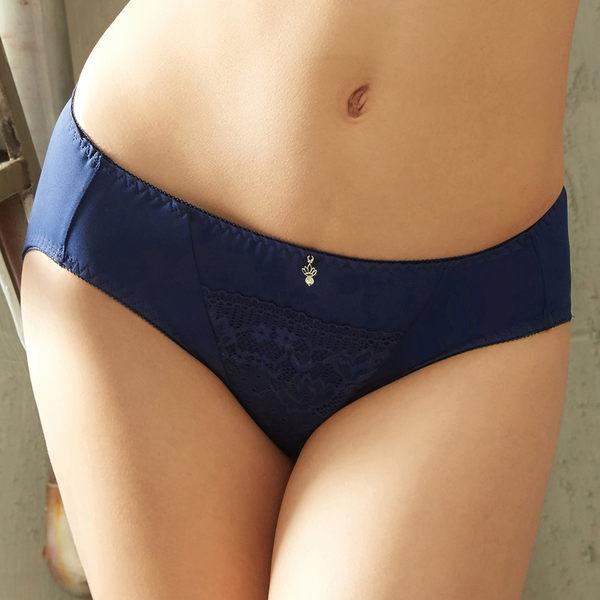 EASY SHOP-浪漫享受 中腰三角褲(海灣藍)