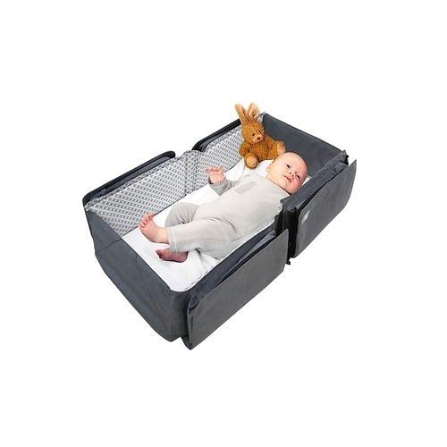 比利時 Doomoo Basics 寶寶行動眠床-簡約灰(升級版)[衛立兒生活館]