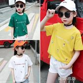 衣柜女童短袖T恤裝新款韓版兒童圓領上衣打底衫  蓓娜衣都