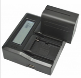 ROWA LCD雙槽高速充電器 雙充 電池充電器 可顯示電量  DMW-BLD10 LP-E5 DMW-BLB13 BMB9