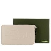 【南紡購物中心】LONGCHAMP Le Pliage Cuir LGP系列牛皮手機萬用包(粉白)