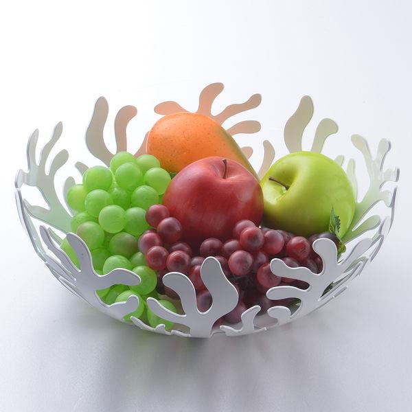 【義大利 Alessi】地中海珊瑚水果籃 置物籃 黑色 21cm【Casa More美學生活】