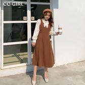 中大尺碼 百搭顯瘦背心裙~共兩色-適XL~5L《 69095 》CC-GIRL