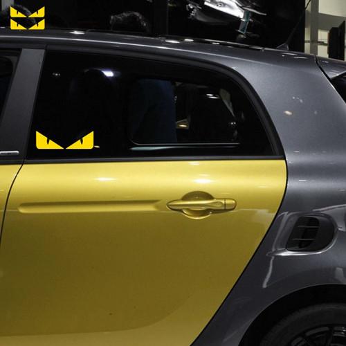 反光小惡魔貼紙 車貼 機車貼 適用 AUDI VW FORD BMW BENZ TOYOTA VW 三菱 SUBARU